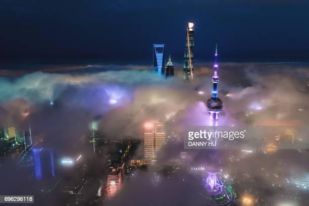 Advection fog in Shanghai