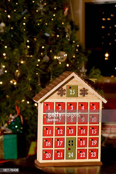 calendario navideño - advent calendar fotografías e imágenes de stock