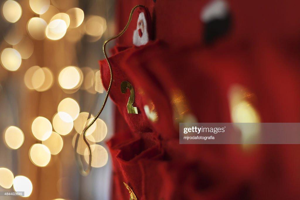 Advent calendar : Stock Photo
