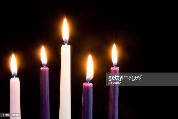 Advent velas en negro