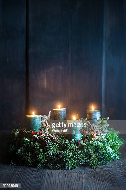 advent wreath - wreath stock pictures, royalty-free photos & images