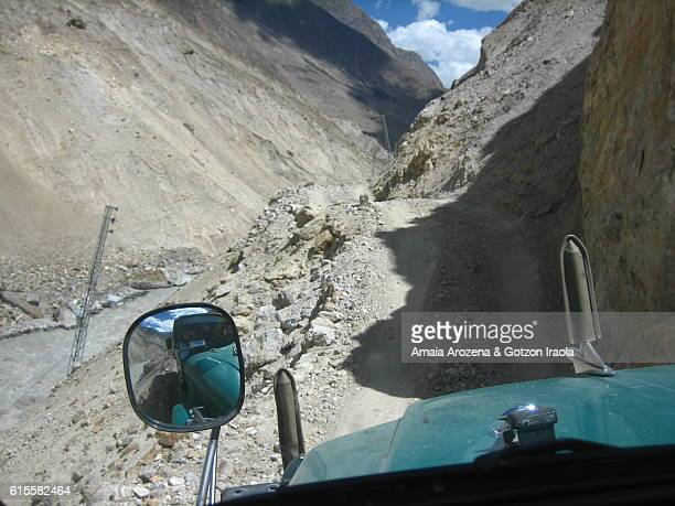 Adventure 4x4 ride to get to Askole, gateway to Baltoro glacier trekking. Karakorum range, Pakistan