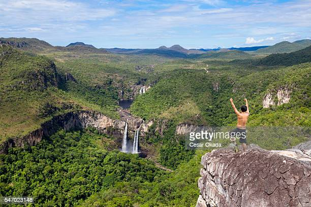 adventure at chapada dos veadeiros - goias stock pictures, royalty-free photos & images