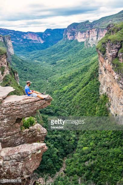 adventure in chapada diamantina national park in bahia brazil - parco nazionale di chapada diamantina foto e immagini stock