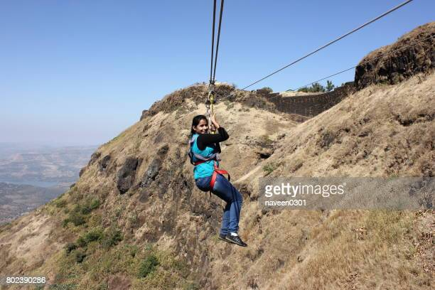 adventure of valley crossing in hills - maharashtra stock pictures, royalty-free photos & images