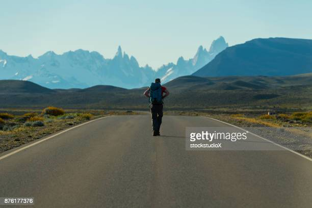 adventure on the open road - santa cruz province argentina stock pictures, royalty-free photos & images