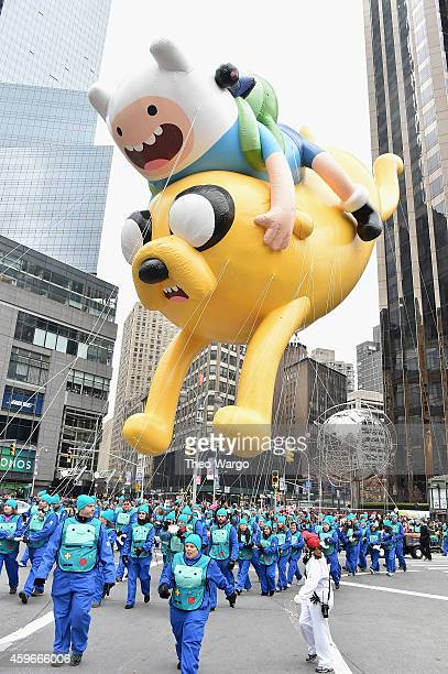 Adventure Time balloon during the 88th Annual Macy's Thanksgiving Day Parade on November 27 2014 in New York City