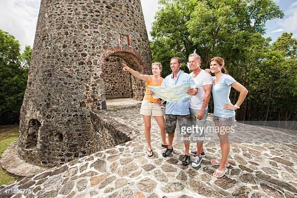 Adventure Travelers Exploring Ruins