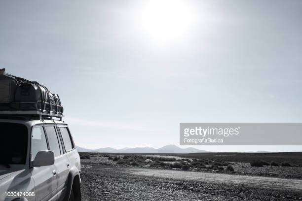 adventure truck, altiplano, bolivia - desaturated stock pictures, royalty-free photos & images