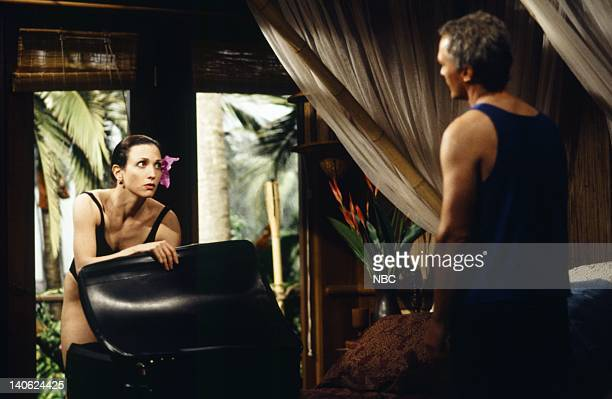 FRASIER Adventures in Paradise Part 2 Episode 9 Pictured Bebe Neuwirth as Doctor Lilith Sternin James Morrison as Brian Photo by Chris Haston/NBCU...