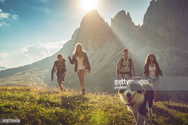Adventures on the Dolomites with dog