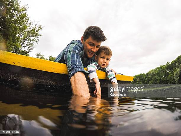 Adventurous father and son