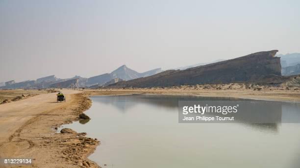 Adventurous travel on trike in Southern Iran, Qeshm Island, Persian Gulf, Hormozgan Province