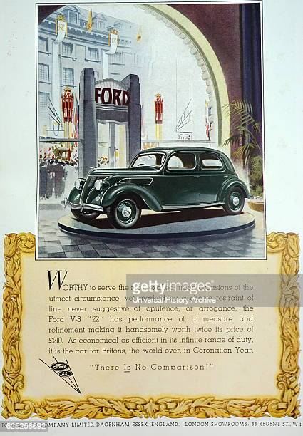 Advert for a 1932 Ford V-8. Dated 20th Century.