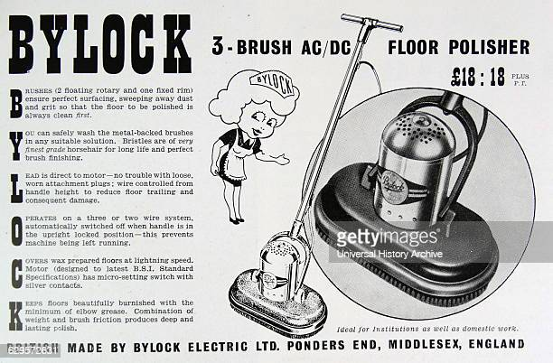 Advert for a Bylock Floor Polisher made by Bylock Electric Ltd