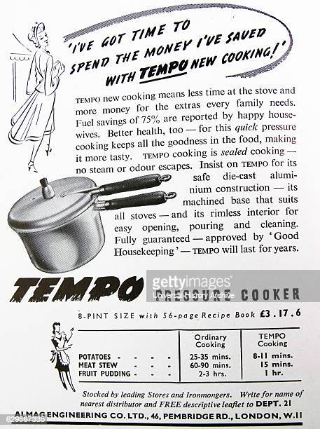 Advert for a Tempo Pressure Cooker
