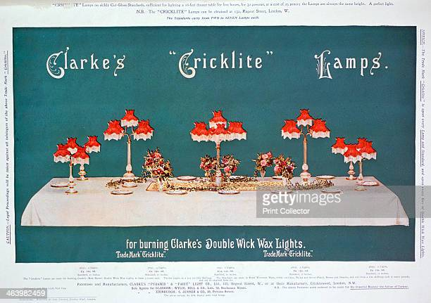 Advert for Clarke's 'Cricklite' Lamps 1899 A print from the Pears Annual of Christmas 1899