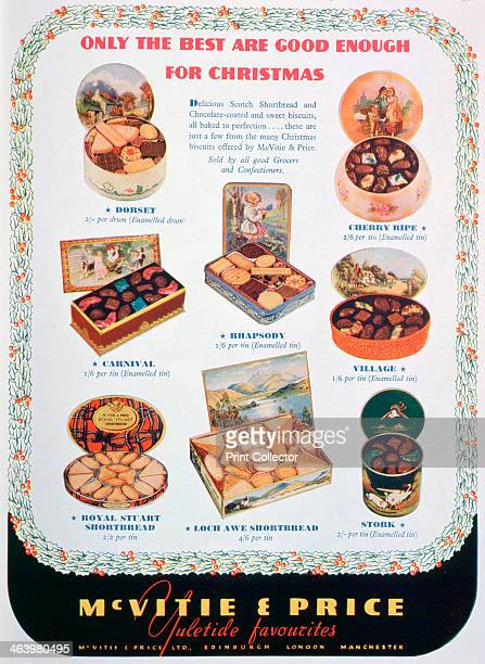 Advert for McVitie and Price biscuits 1938 A print from The Sketch Christmas 1938