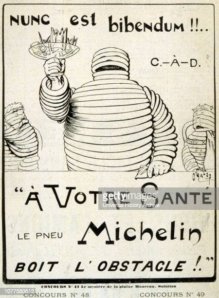 Advert for Michelin tyres French 1901