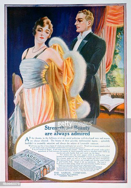 Advert for Sargol body shaping compound 1921 A print from The Sketch Christmas number 1921
