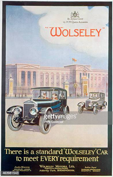 Advert for Wolseley motor cars 1922 A car pictured outside Buckingham Palace Wolseley were the supplier of cars by appointment to Princess Alexandra...
