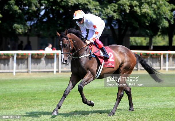Advertise ridden by Frankie Dettori goes to post
