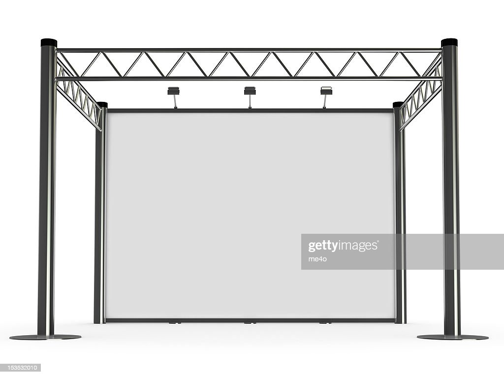 advertisement Exhibition stand : Stock Photo