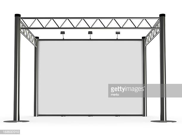 advertisement exhibition stand - kiosk stock pictures, royalty-free photos & images