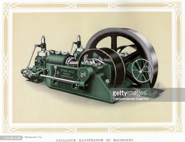 Advertisement features a machine manufactured by Kynoch Limited an ammunition company that also ran a printing business England 1908