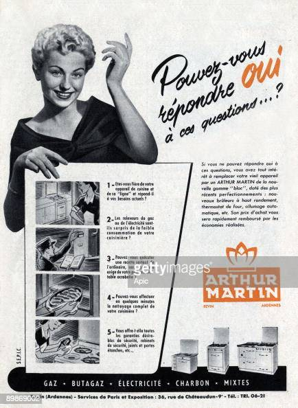 Advertisement For Arthur Martin Electromenager March 1952 News
