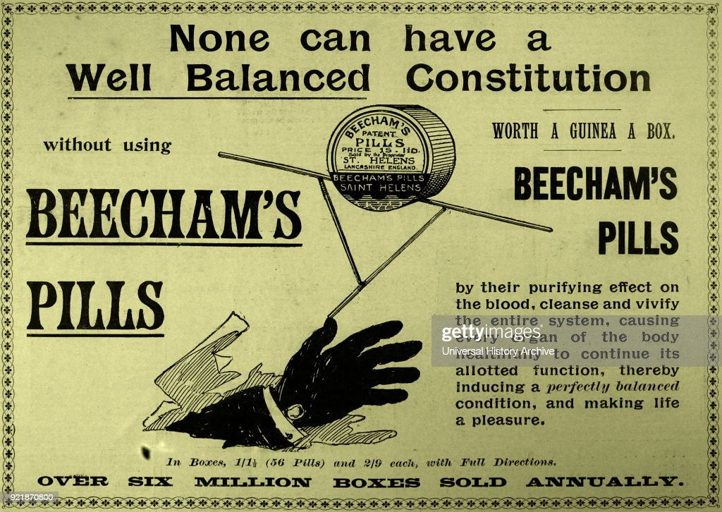 Advertisement for Beecham's Pills. : News Photo