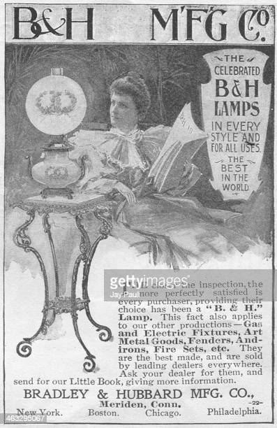 Advertisement for B&H gas and electric lamps and light fixtures by the Bradley and Hubbard Manufacturing Company, New York, 1898.