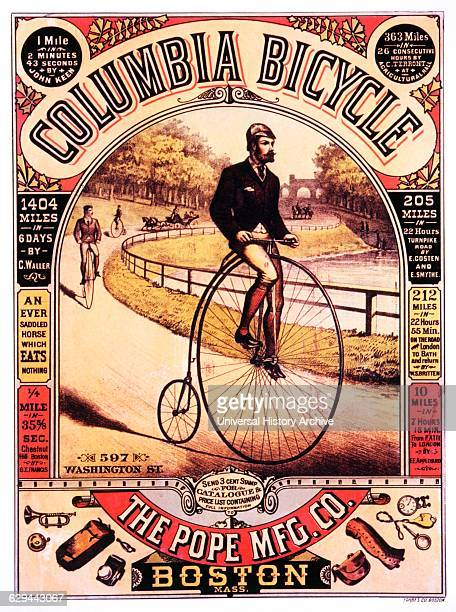 Advertisement for Bicycles 'Columbia Bicycle The Pope Mfg Company Boston Massachusetts circa 1885
