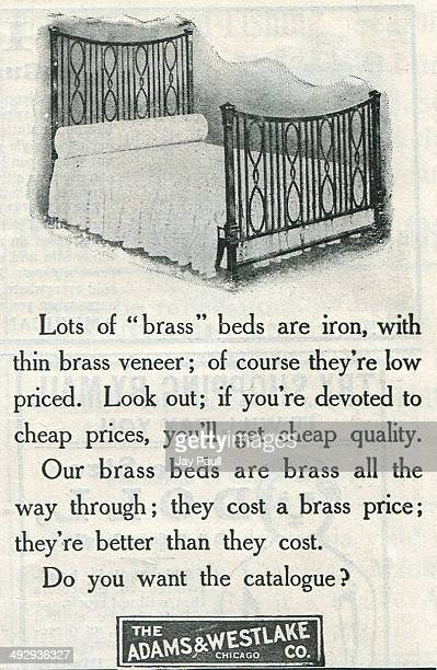 Advertisement for brass beds by Adams and Westlake Company in Chicago, Illinois, 1903.