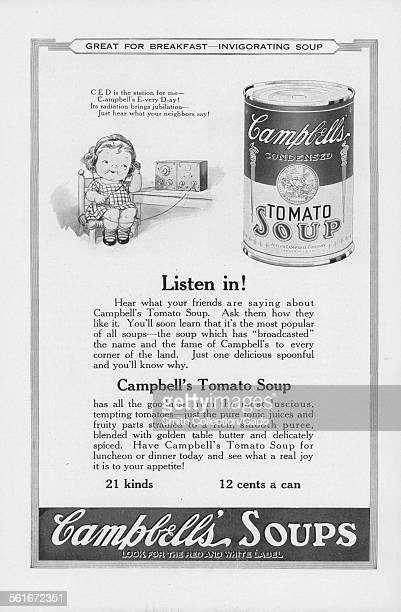 Advertisement for Campbells Tomato Soup, 1922.