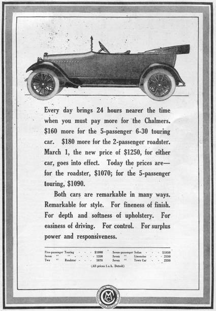 Ad For Chalmers Cars