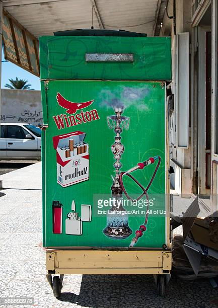 Advertisement for cigarettes hormozgan bandare kong Iran on December 28 2015 in Bandare Kong Iran