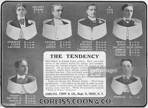 Advertisement for Corliss Coon collars by Corliss Coon Company in Troy New York 1901