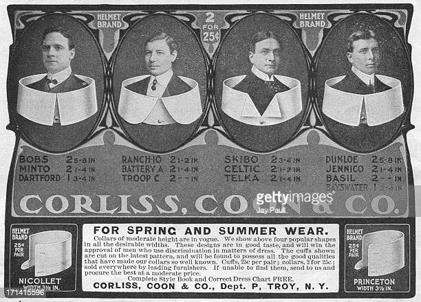 Advertisement for Corliss Coon collars by Corliss Coon Company in Troy New York 1902