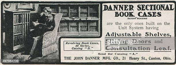 Advertisement for Danner sectional book cases by The John Danner Manufacturing Company in Canton Ohio 1901