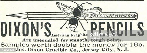 Advertisement for Dixon's American graphite pencils by the Joseph Dixon Crucible Company in Jersey City, New Jersey, 1893.