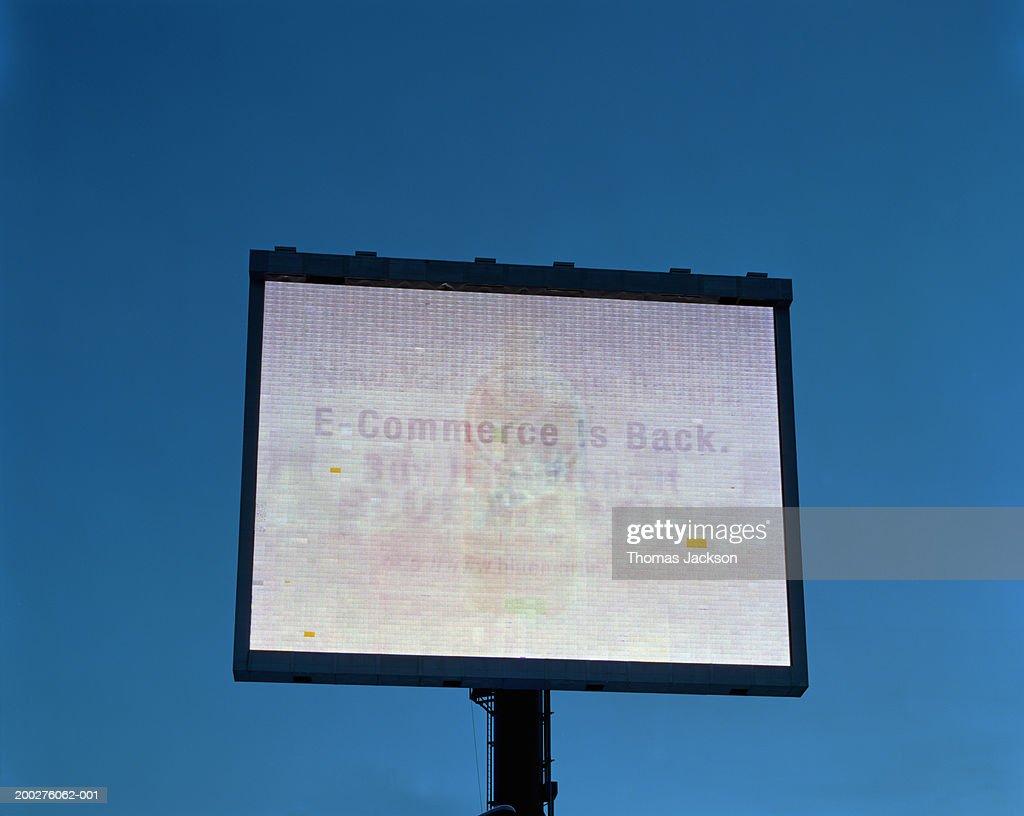 Advertisement for E-Commerce : Stock Photo