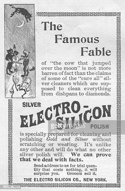 Advertisement for Electro Silicon polish for silver, gold and other household items by The Electro Silicon Company, New York, 1900.