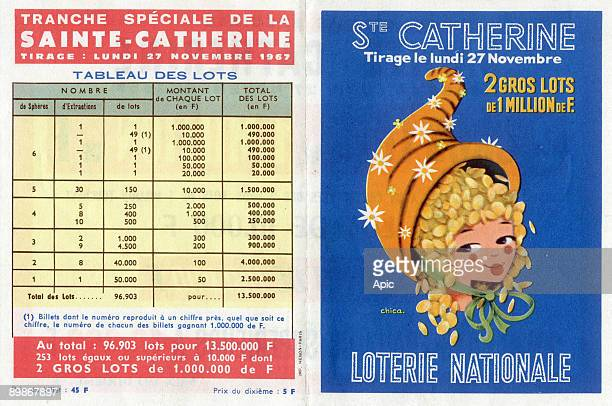 Advertisement for french national lottery november 27 1967
