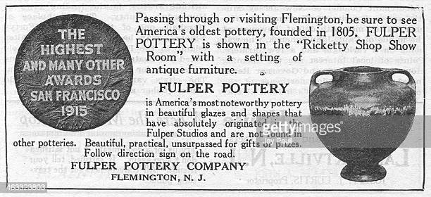 Advertisement for Fulper Pottery claiming to be America's oldest pottery founded in 1805 by the Fulper Pottery Company Flemington New Jersey 1919