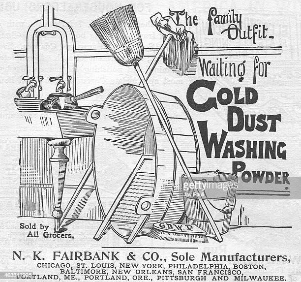 Advertisement for Gold Dust washing powder for dishes by the NK Fairbank and Company Chicago Illinois 1892