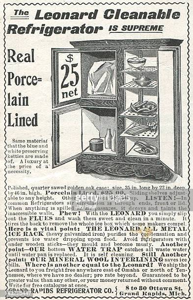 Advertisement for Grand Rapids Refrigerator Company 1901