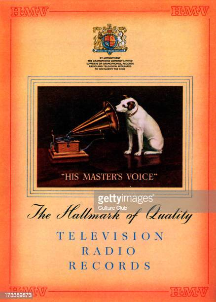 Hmv pictures and photos getty images advertisement for his masters voice hmv classic logo of dog listening to his masters voice captions gumiabroncs Image collections