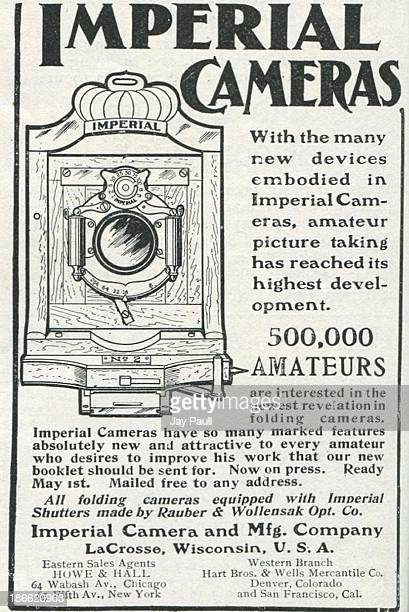 Advertisement for Imperial Cameras by the Imperial Camera and Manufacturing Company in LaCrosse Wisconsin 1901