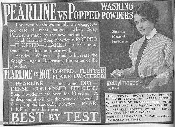 Advertisement for James Pyle's Pearline soap powder for clothes, New York, 1911.